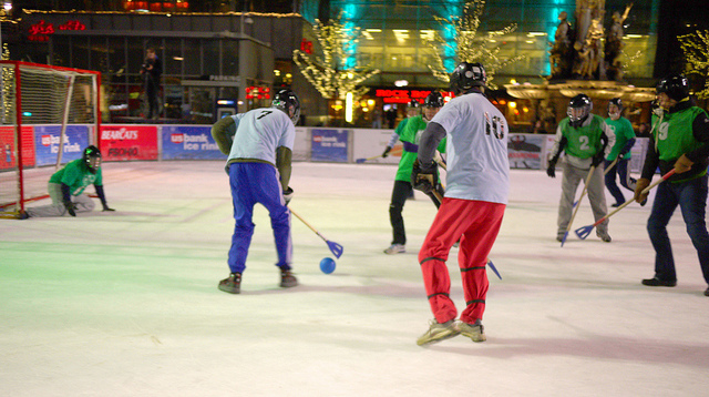 broomball game ice